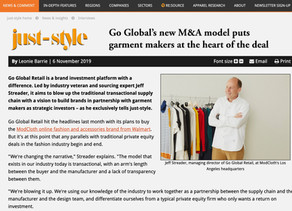 Go Global M&A model featured in just-style