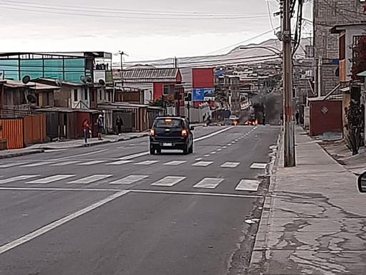 BARRICADAS EN AVENIDA BONILLA PRODUCEN CORTES DE TRÁNSITO A ESTA HORA