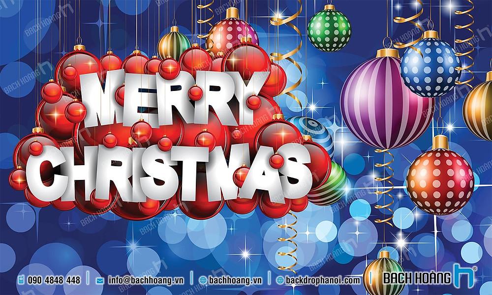 Backdrop Phông Noel Giáng Sinh Merry Christmas