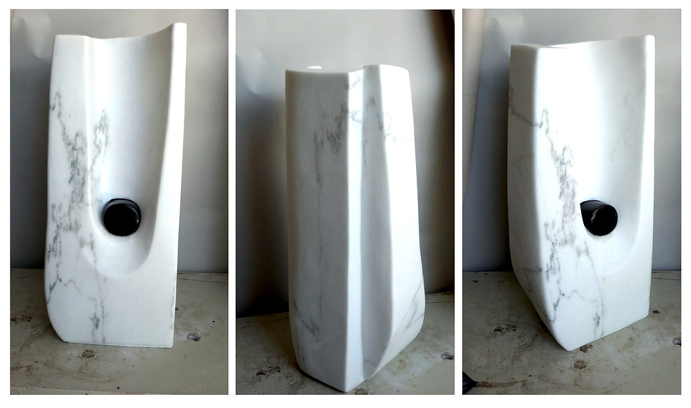 Abstract White Marble Art