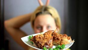 Zdravě pečený králík v marinádě a zeleninou