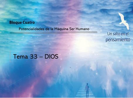 TEMA 33: DIOS