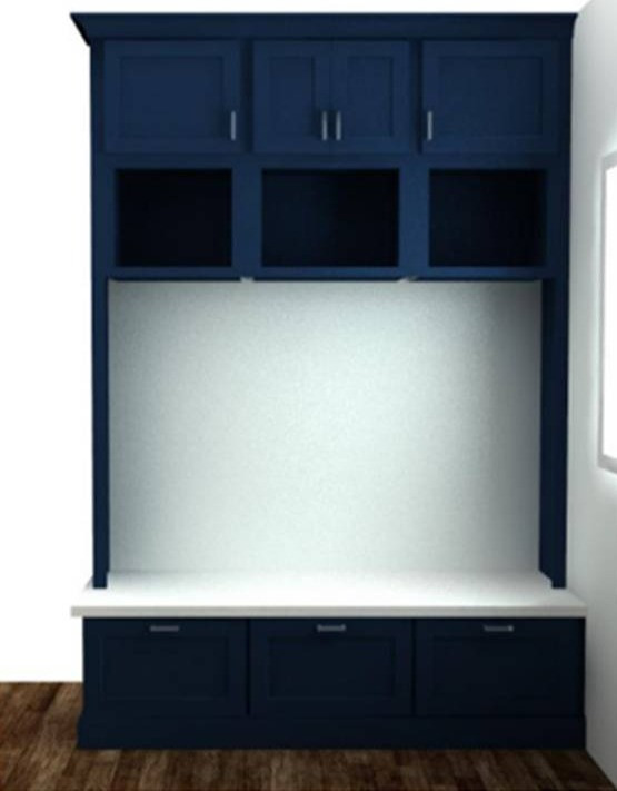 Locker Elevation | Pinnacle Interior Designs