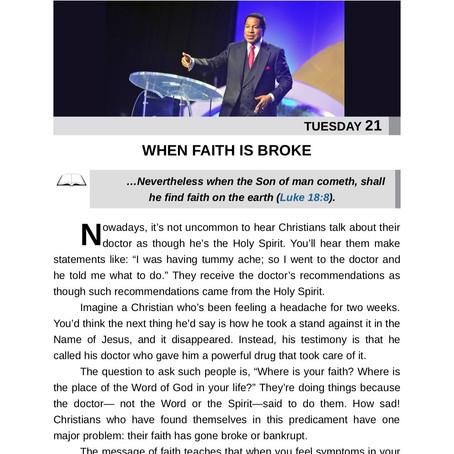 WHEN FAITH IS BROKE