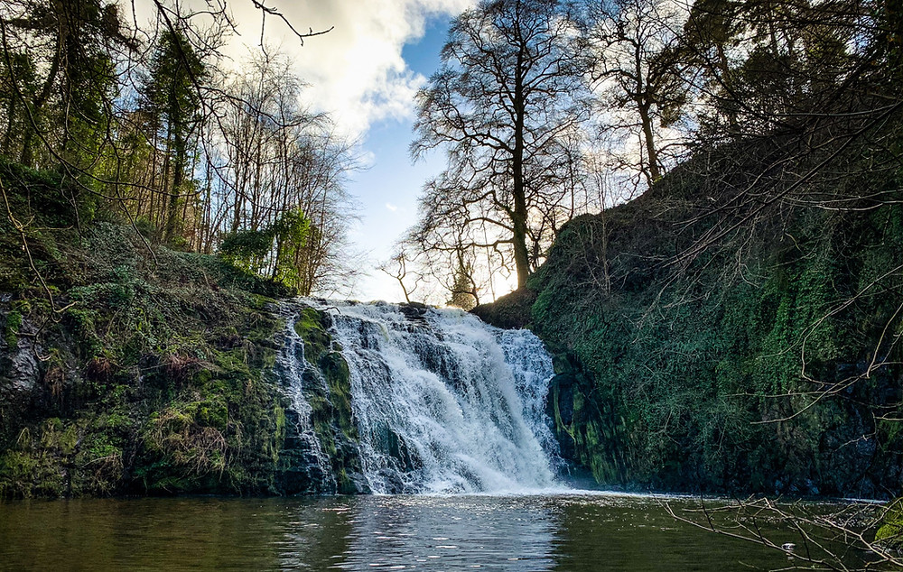 Stichill Linn Waterfall, Scottish Borders