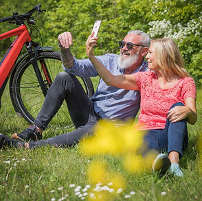 Couple enjoying ebike holiday in the Midlands