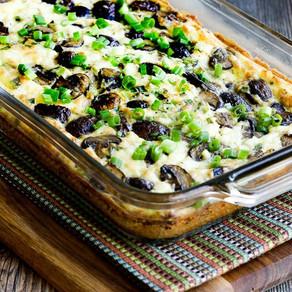 Low Carb Mushroom & Feta Breakfast Casserole