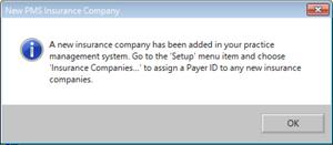 New PMS Insurance Company Pop-Up