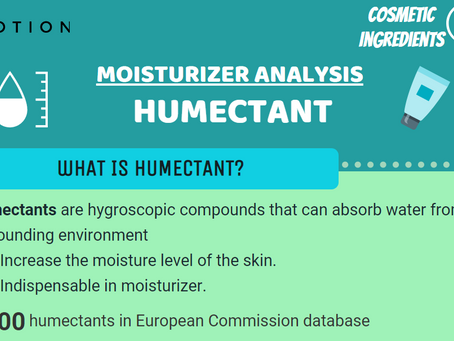 [Cosmetic Ingredients 101] Moisturizer Analysis - Humectant Infographic
