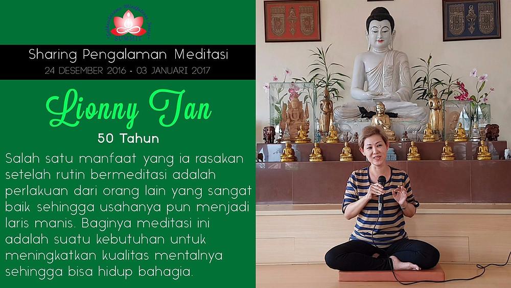 Usaha lancar karena Meditasi - Sharing oleh LIONNY