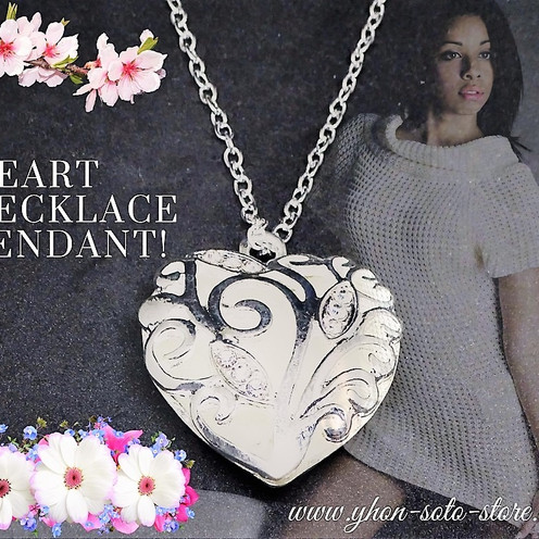 """New Heart Necklace Pendants """"White"""" or """"Red"""" are Available"""