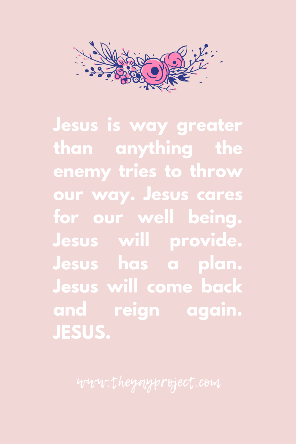 Praise Jesus Christian blog graphic by The Yay Project