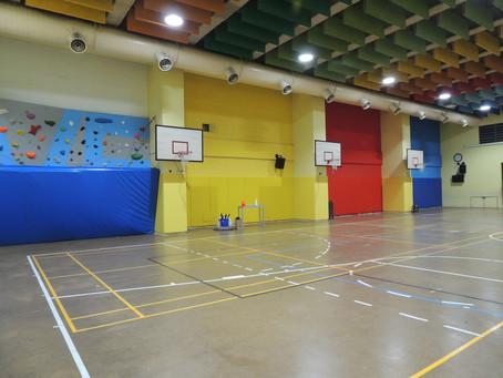 案例分享:台北市光仁國小壓克力籃球場防撞及攀岩場地