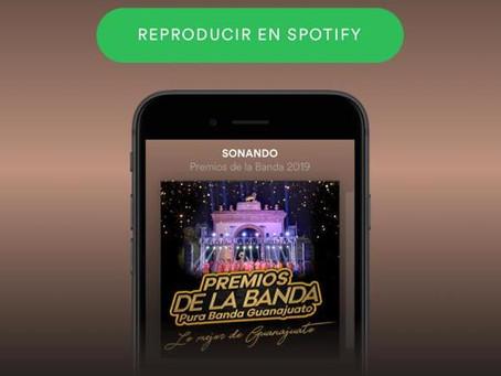 """El Playlist de Spotify de """"Premios de la Banda"""""""