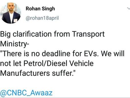 Govt to Go SLOW on EV?