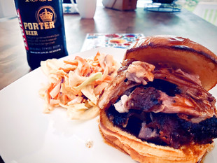 Pulled Pork with Polish Żywiec Porter baked in the oven