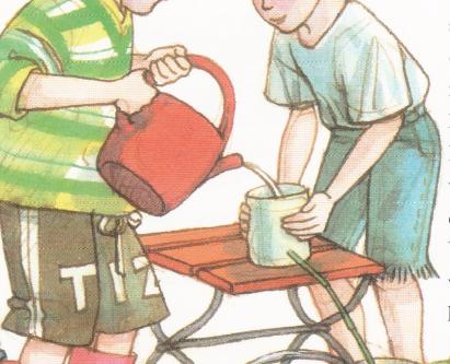 Kindergarten: Wasserleitungen aus Löwenzahn