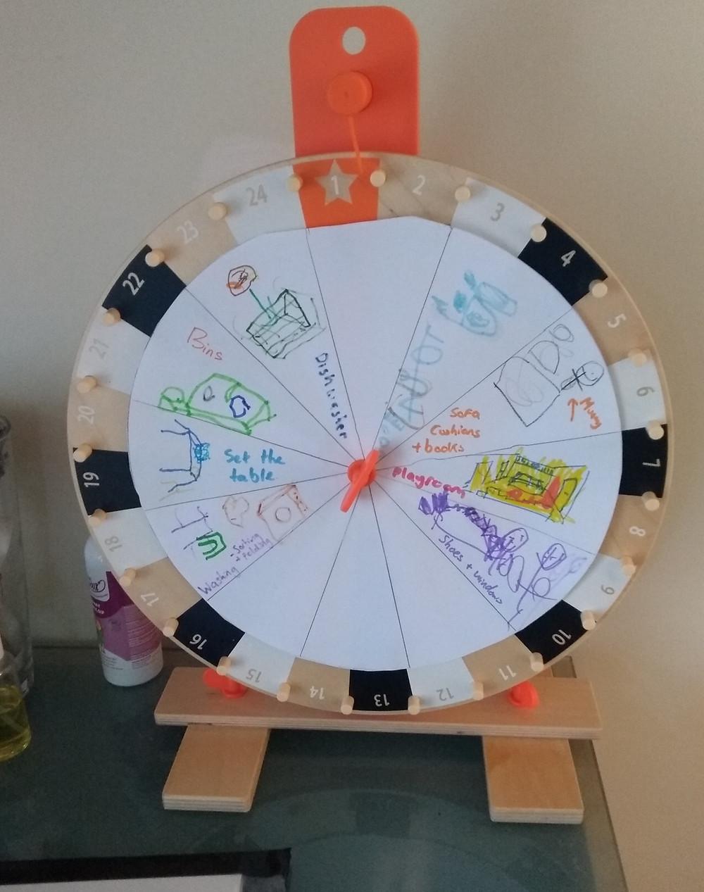 wheel choice positive discipline chores jobs