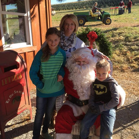 Meeting Santa is a family tradition during the holidays