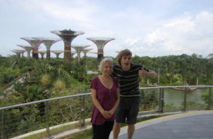My son Jesse and I on our Singapore trip