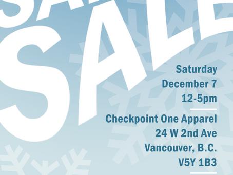 Sample Sale December 7th