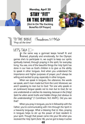 """STAY """"FIT"""" IN THE SPIRIT"""