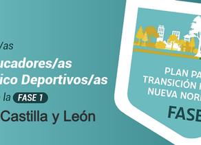 Los educadores físico deportivos ante la fase 1 en Castilla y León