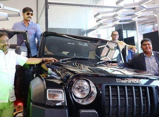 "Mahindra and Mahindra unveils its latest ""Thar"" suv at the VVC Mahindra"
