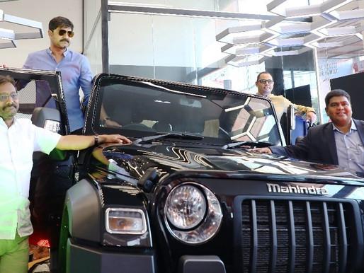 """Mahindra and Mahindra unveils its latest """"Thar"""" suv at the VVC Mahindra"""