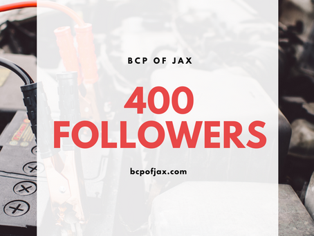We Made it to 400 Followers!