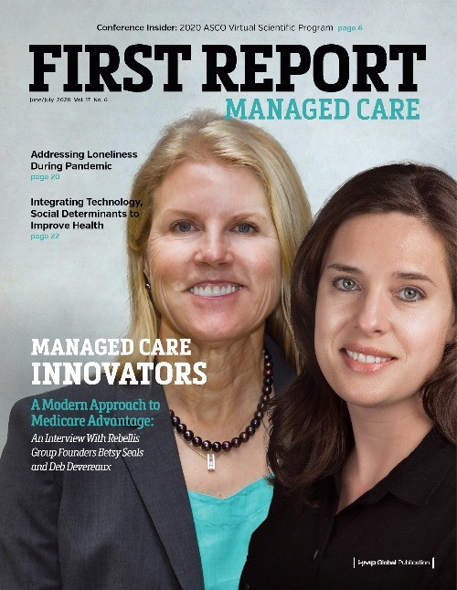 First Report Managed Care Cover featuring Betsy Seals and Deb Deveraux