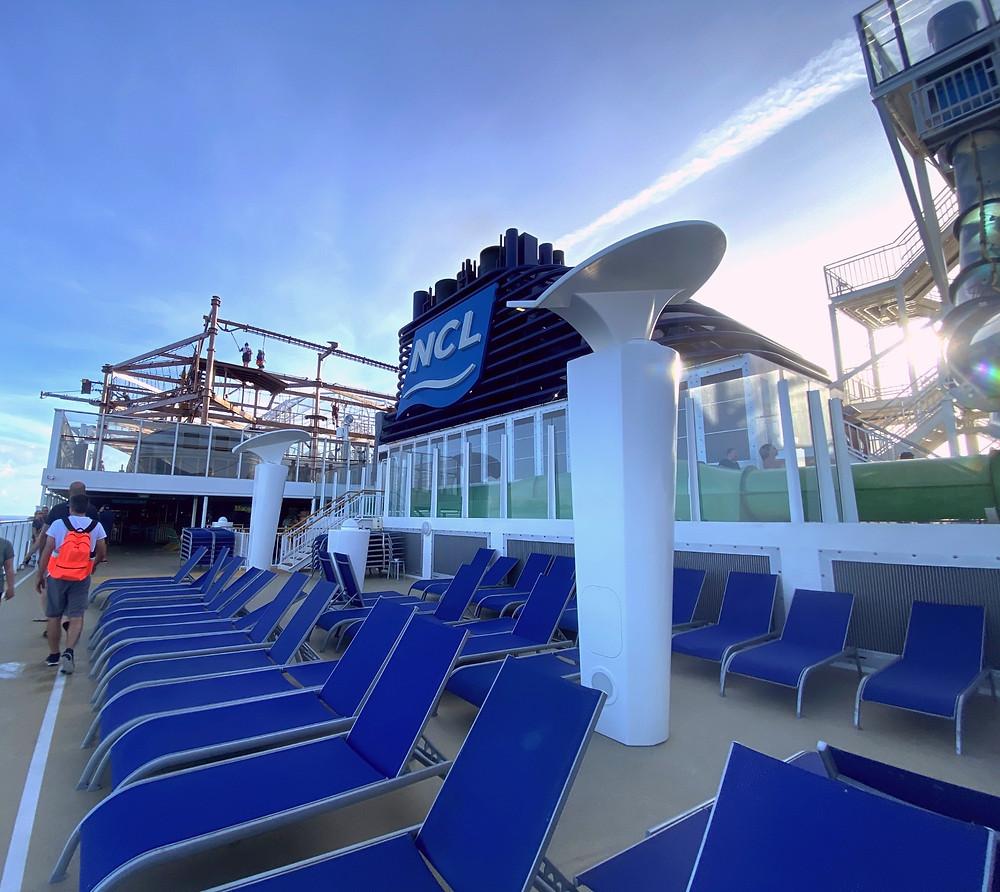 Norwegian Cruise Line Getaway Ship Top Deck by Biteinerary