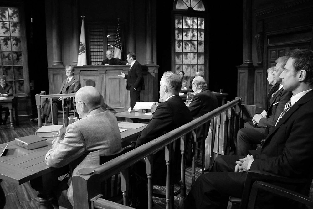 The Verdict's tense courtroom scene, with Ian Kelsey as Frank Galvin. All pics: Middle Ground