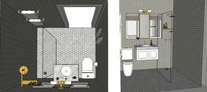 3D Model of small bathroom renovation in Chatswood NSW Australia