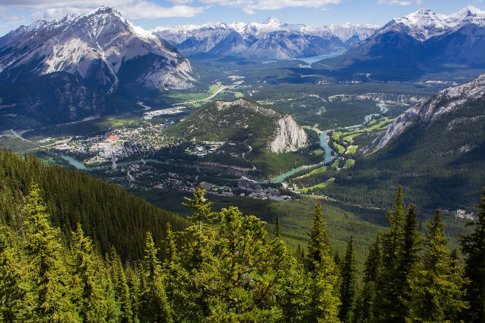 Views from the top of the Banff Gondola
