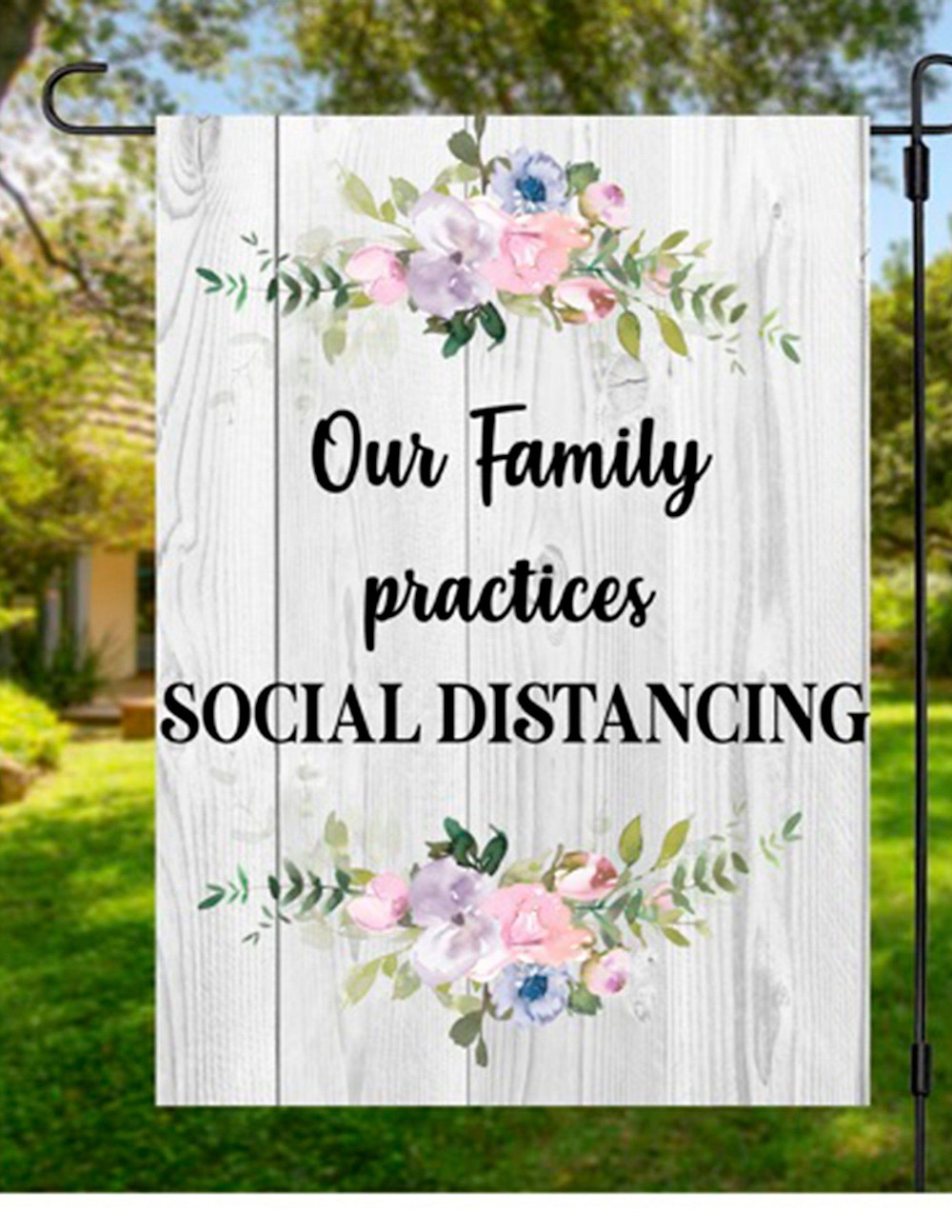 Social distance wedding planning ideas sign