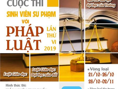 """Hội thi """"Sinh viên Sư phạm với Pháp luật"""" lần thứ VI năm 2019"""