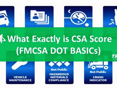 What Exactly is CSA Score (FMCSA DOT BASICs)