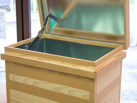 茶箱の蓋の開け締めを便利に。