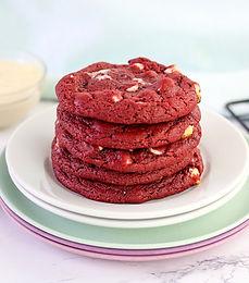 Galletas de Red Velvet con relleno de queso crema
