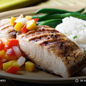 Grilled Fish (Cod) With Tropical Relish