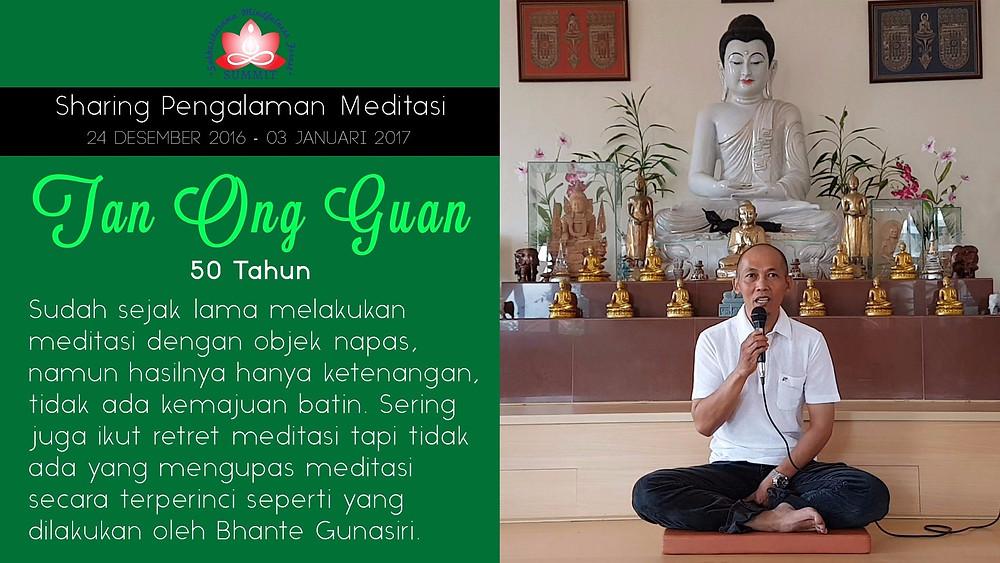 Bimbingan Meditasi terperinci - Sharing oleh TAN ONG GUAN