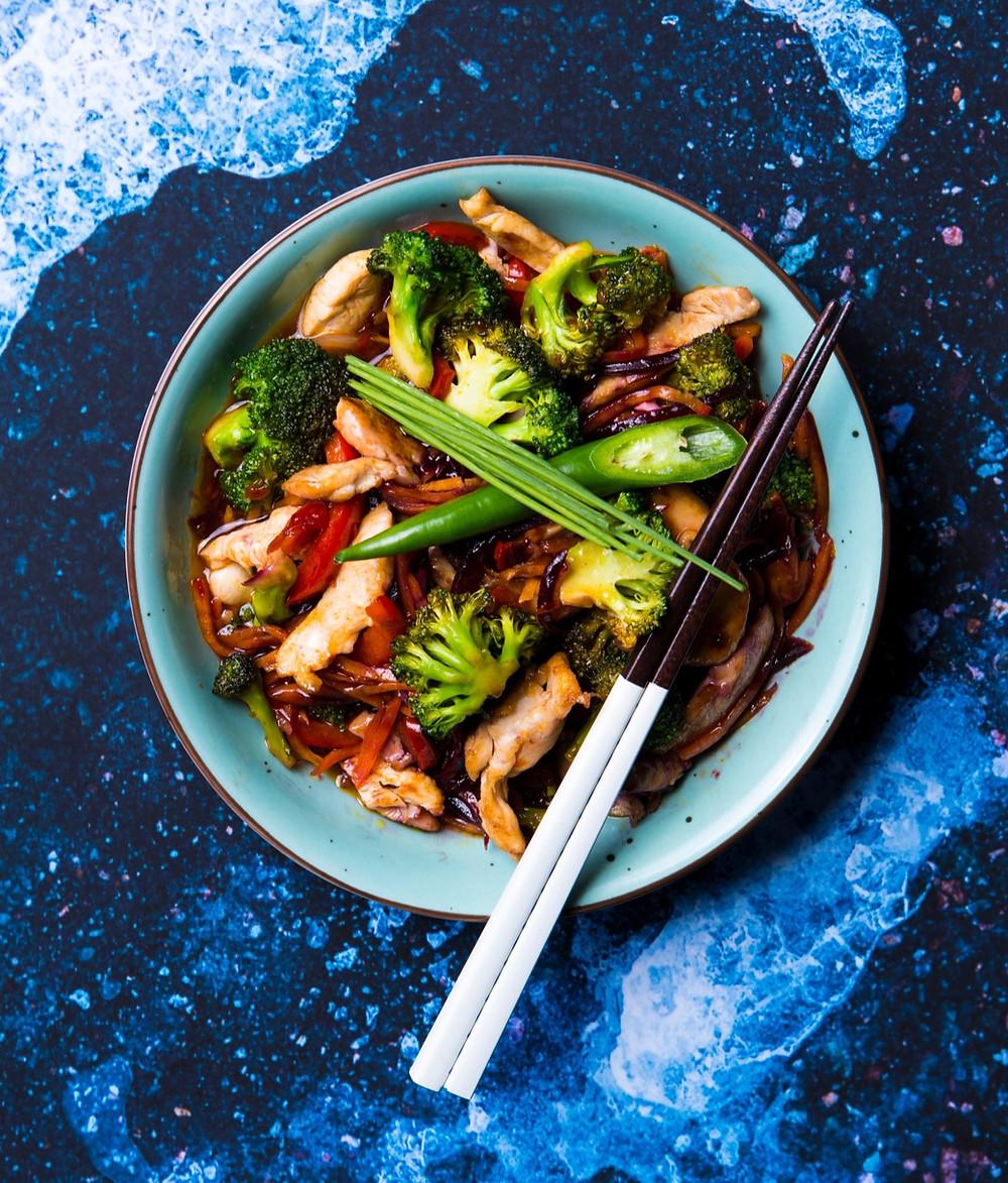 Saldžiarūgštis troškinys, azijietiškas troškinys, wok troškinys, Alfo receptai