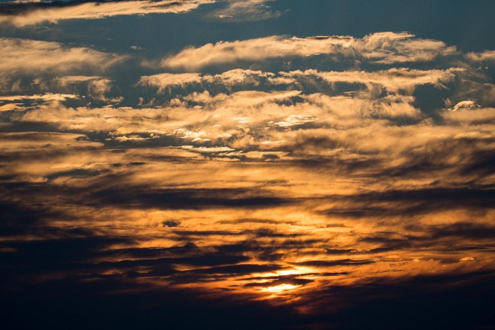 夕焼け空と雲 / Sunset sky and clouds
