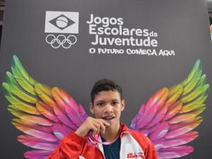 Jogos Escolares da Juventude: baiano conquista medalha na luta greco-romana