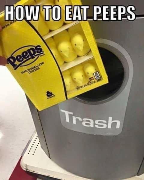 How to Eat Peeps - Trash Meme