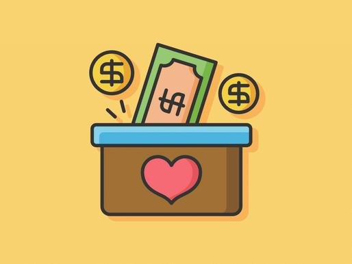 Conta bancária e Doações em dinheiro