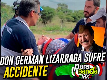 En manifestación carretera, Sufre ACCIDENTE Don Germán Lizarraga