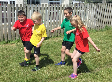Year 3 Practising for Sports Day