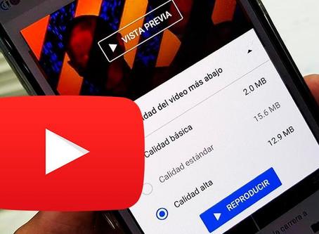 YouTube dejará seleccionar la calidad que quieres en tus vídeos ¡para siempre!⏯️⚙️